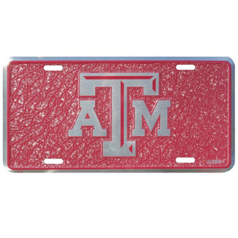 HangTime Texas A & M  mosaic license plate