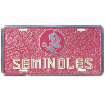 HangTime Florida State  mosaic license plate