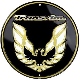 HangTime Trans AM Aluminum Nostalgia sign 12 inches in diameter