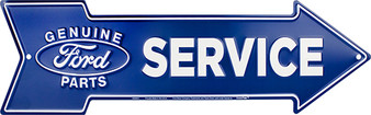 Ford Service Genuine Parts Embossed aluminum arrow sign 4 x 20