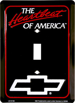 Chevy Heartbeat of America single pole light switch plate