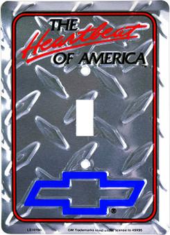 Chevy Heartbeat of America diamond background single pole light switch plate