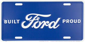 Ford Built Proud 6 x 12 Embossed aluminum license plate