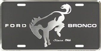 Ford Bronco 6 x 12 Embossed aluminum license plate