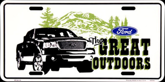 Ford The Great Outdoors 6 x 12 Embossed aluminum license plate