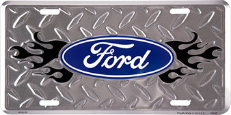 Ford Diamond background 6 x 12 Embossed aluminum license plate