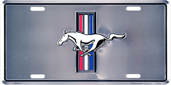 Mustang 6 x 12 Embossed aluminum license plate