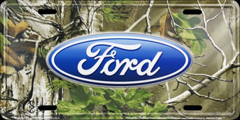 HangTime Ford Camo 6 x 12 Embossed aluminum license plate