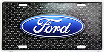 Ford Honeycomb 6 x 12 Embossed aluminum license plate