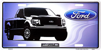 Ford F150 6 x 12 Embossed aluminum license plate