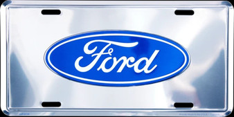 HangTime Ford Super Stock 6 x 12 Embossed aluminum license plate
