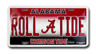 Alabama ROLL TIDE 6 x 12 Embossed aluminum license