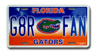 Florida G8R FAN 6 x 12 Embossed aluminum license plate