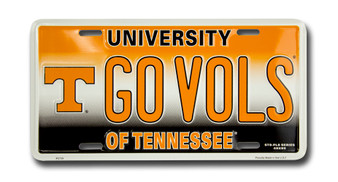 Tenn GO VOLS 6 x 12 Embossed aluminum license