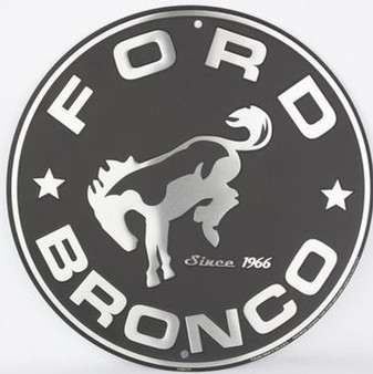HangTime Bronco Aluminum Nostalgia sign 12 inches in diameter