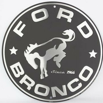 HangTime Bronco Aluminum Garage sign 24 inches in diameter