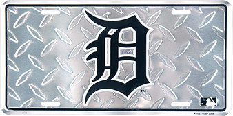 Detroit Tigers  diamond background license plate