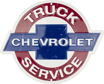HangTime Chevrolet Truck Sales & Service die cut sign