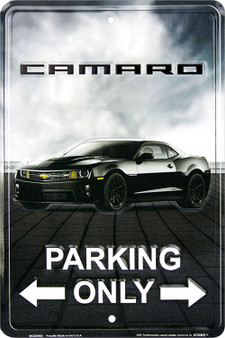 HangTime Camaro Parking Only 8 x 12 Metal Sign