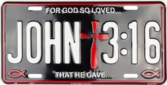 John 3:16 Religious license plate
