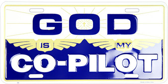 Hangtime God is my Co-pilot Religious license plate