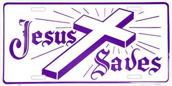 Hangtime Jesus Saves Religious license plate