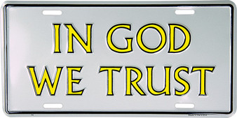 Hangtime In God we Trust Religious license plate