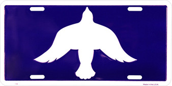 Hangtime Peace Dove Religious license plate