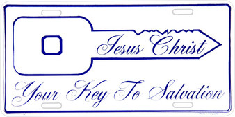 Hangtime Jesus Christ Your key to salvation Religious license plate