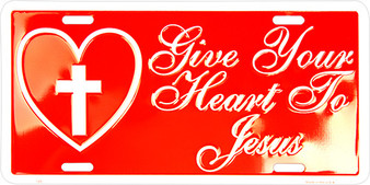Hangtime Give your Heart to Jesus Religious license plate