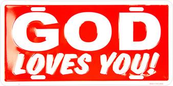 Hangtime God Loves you! Religious license plate