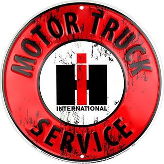 IH Motor Truck Service 24 inch diameter garage sign