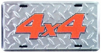 4 X 4 Diamond Emboss Auto tag