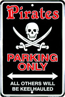 Hangtime Pirates Parking Only, All Others Will Be Keelhauled