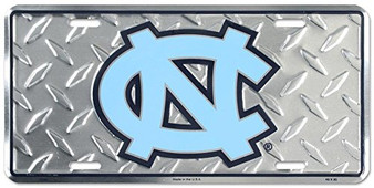 Hang Time University of North Carolina Diamond Cut NCAA metal License Plate