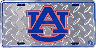 Hangtime (6x12) Auburn University Diamond Cut NCAA Tin License Plate