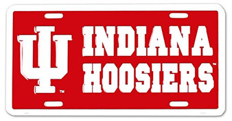 Hangtime 6x12 Indiana Hoosier NCAA  metal License Plate