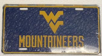HangTime West Virginia Mountaineers  mosaic license plate