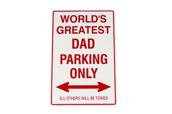 Hangtime World Greatest Dad metal parking sign 8 x 12 inches