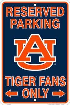 Hangtime Auburn Univ. 8 x 12 embossed metal parking sign