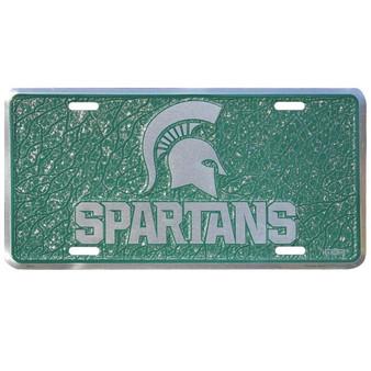 Michigan State mosaic license plate