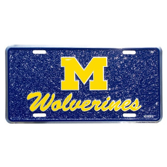 Hangtime Michigan Wolverines mosaic license plate