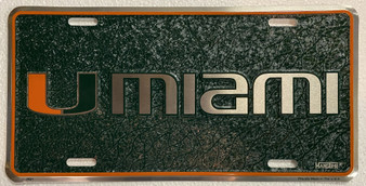Hangtime Miami Hurricanes Mosaic background novelty license plate