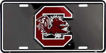 Hangtime South Carolina Gamecocks Classic license plate black background