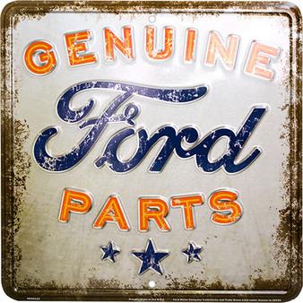 Hangtime Genunie Ford Parts metal nostalgia sign 12 x 12