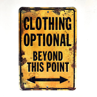 Hangtime Clothing Opitonal Beyond this Point 8 x 12 novelty sign