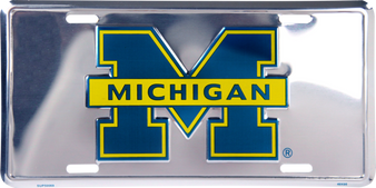 Hangtime Michigan Wolverines Super Stock Metal License Plate 6 x 12