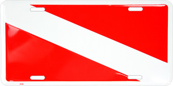 Hangtime Divers Flag novelty metal license plate