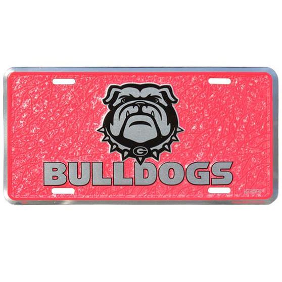 HangTime Georgia Bulldog  mosaic license plate