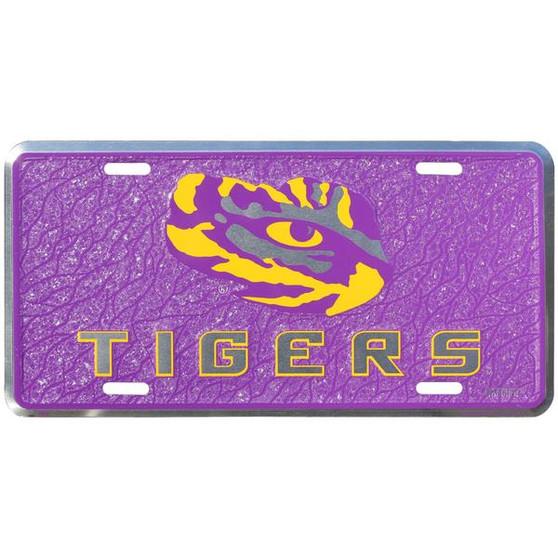 HangTime LSU  mosaic license plate